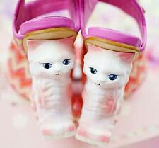 Womens Cherry irregular Strange Wedge Heel Cosplay Wedding Pumps Sandals Shoes