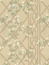 Zoffany Jasmine Lattice Wallpaper, Old Gold, ZW00311329
