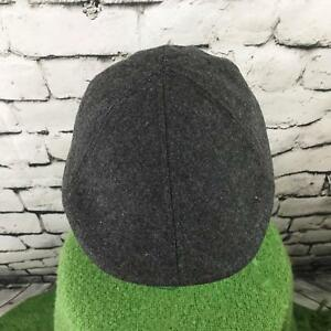 Mens One Sz Hat Gray Warm Classic Fitted Retro Style Stretch Back Flat Cap Flaw