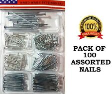 100 Assorted Nail Metal hardened for brick wood wall all purpose fit pack