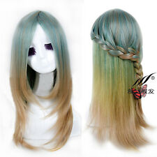 Lolita Anime Wig Long Straight Ombre Hair Cosplay Party Heat Resistant Full Wig