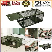 New listing Humane Live Mouse Cage Trap for Mice, Rats, One Door Catch and Release, Green