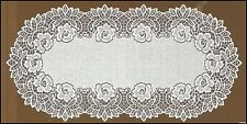 "Oval white,lace, table runner NEW (60cm x 120cm) (23.5""x 47""), Christmas gift !"