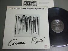 THE ROVA SAXOPHONE QUARTET US LP with INSERT, CINEMA ROVATE