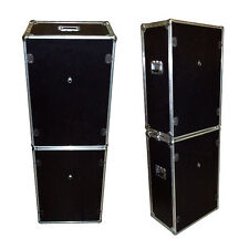 Photo Booth Set  - 2 ATA Style Cases w/Wheels - 'Do It Yourself' Cutouts - Black