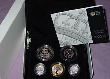 2010 Royal Mint plata Piedfort PRUEBA moneda colección-bajo acuñación de monedas