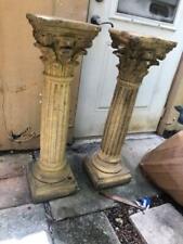 Pair of Antique Style Corinthian Pillars , Pedestals or Columns