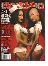 BLACK MEN MAGAZINE, ART OF SEX ISSUE  NURSES OF DEATH * BLAZING BODIES JULY,2013
