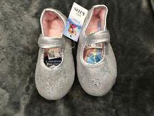 M&S Disney Frozen Elsa Silver Sparkly Slippers  BNWT Size 10 Infant