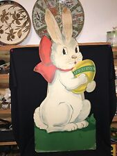 "1940's 42 1/4"" Newberry's Department Store Easter Rabbit Sign Newburyport Ma"
