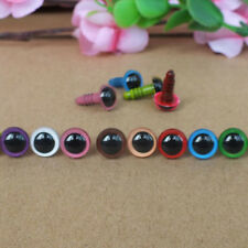 100pcs 8mm Color Random Plastic Safety Eyes For Teddy Bear Doll Animal Puppet