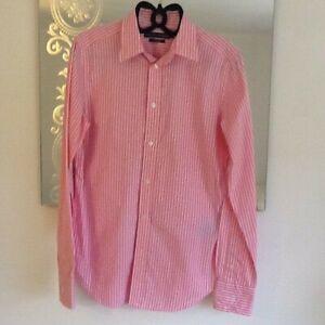 Ladies Ralph Lauren Polo Pink 100% Cotton Shirt/Blouse Long Sleeve Slim Fit S