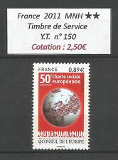 FRANCE 2011...Service Stamp n°  Y.T. 150 ...MNH **