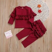 Newborn Baby Girl Long Sleeve Top T shirt+Long Pants Leggings Outfits Clothes
