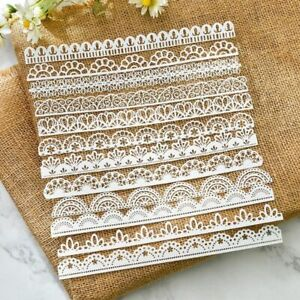 White Lace Paper Edge DIY 12PCS Cuts Cutting Dies Card Making Scrapbook Doilies