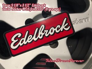 LARGE EDELBROCK PERF STICKER DECAL FORD GT SHELBY CHEVY MOPAR INTAKES CARBS