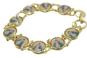 Caridad del Cobre Medal 7.5 inch Bracelet 18k Gold Plated - Caridad Bracelet