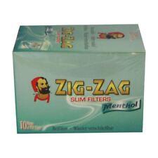 Zig Zag Pointes à Filtre Fins Menthol Boîte de 10 Sacs