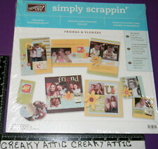 Stampin Up Friends And Flowers Simply Scrappin Paper 12 X 12 Scrapbooking Kit