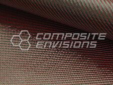 """Red Mirage™ Carbon Fiber Cloth Fabric 2x2 Twill 50"""" 3k 290gsm 8.6oz HD"""