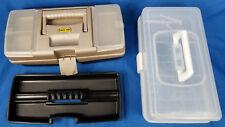 13.75X5.5X6.5 Rectangle Shaped Plastic Fishing Bait Box w/ Tray + 1 Extra Box