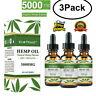 3Pk 5000mg Hemp Oil Pain Relief Anxiety Sleep Anti Inflammatory Extract Drops jc