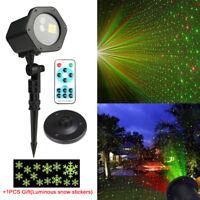Laser licht Projektor Außen Beleuchtung Gartenlicht Xmas Weihnachten Deko LED