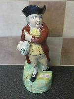 ANTIQUE MID 19TH CENTURY STAFFORDSHIRE POTTERY HEARTY GOOD FELLOW TOBY JUG VGC