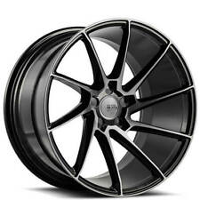 "4ea 20"" Staggered Savini Wheels Black Di Forza BM15 Gloss Black Rims (S13)"