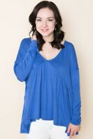 Amelia James Bellevue shirt Top Blouse Plus Size 2xl Blue Periwinkle