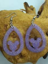 Handmade Disney Mickey Mouse Dangle Earrings, Drop Earrings, Disney Jewellery