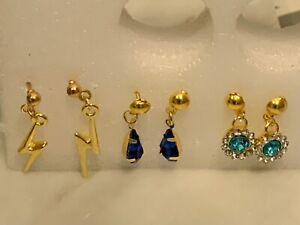 Blue Lightning Earring Collection for Tonner or Gene Doll