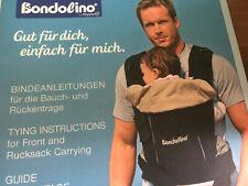 Hoppediz Bondolino Babytrage- Für Rücken und Bauch grün