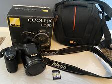 Nikon COOLPIX L330 20.2MP Digital Camera - Black. 16GB Memory and Carrying Case
