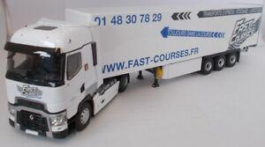 ELI116793 - Camion 4x2 RENAULT T520 avec semi fourgon 3 essieux aux couleurs des