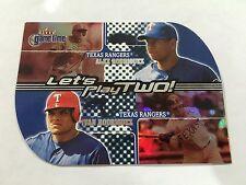 Ivan Rodriguez & Alex Rodriguez Insert Texas Rangers 2001 Gametime Baseball Card