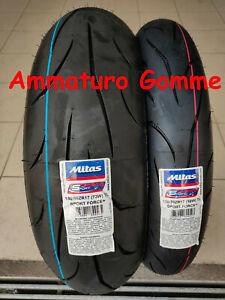 COPPIA 120/70 17 180/55 17 DOT/ANNO 2021! +OMAGGIO MITAS SPORT FORCE+ GOMME MOTO