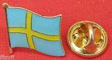 Sweden Swedish Flag Lapel Hat Cap Tie Pin Badge Brooch Konungariket Sverige