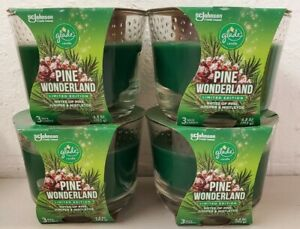4 Limited Edition Glade Pine Wonderland Forest Scented 6.8 oz 3 - Wick Candle