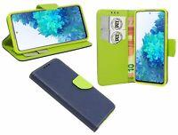 Book-Style Handy Hülle Tasche Zubehör in Blau für Samsung Galaxy S20 FE (G780F)