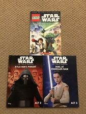 Lot Of 3 Star Wars Books Studio Fun, Lego