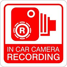 Magnetic In Car Camera Dash Cam Recording Warning Sign for Vehicles 18cm x 18cm