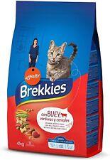 ✅ Cibo Alimento Ricco Secco per Gatti Croccantini con Manzo Ortaggi Cereali 4 kg