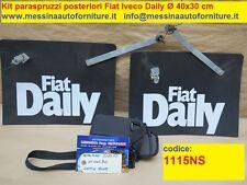 Kit paraspruzzi e schizzi ruote posteriori doppie Fiat Iveco Daily Ø 400x300 mm