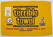 Pittsburgh Steelers Terrible Towel Super Bowl XLV Feb 6 2011 New with Tags