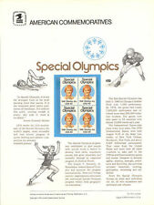 #114 15c Special Olympics #1788 USPS Commemorative Stamp Panel