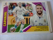 Chrome football CARVAJAL REAL MADRID n° 3 liga 2017 2018 ce panini failles