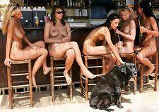 HOT GIRLS ~ MICRO BIKINIS ~ CANDID  A4 SIZE GLOSSY PHOTO