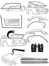 New! 1964-1966 MUSTANG Fastback Deluxe Weatherstrip Seal Kit Windshield Doors