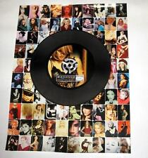 Madonna GHV2 2001 PROMO ONLY POSTER 18 x 24 in COLLAGE w/ 45 in Center NM